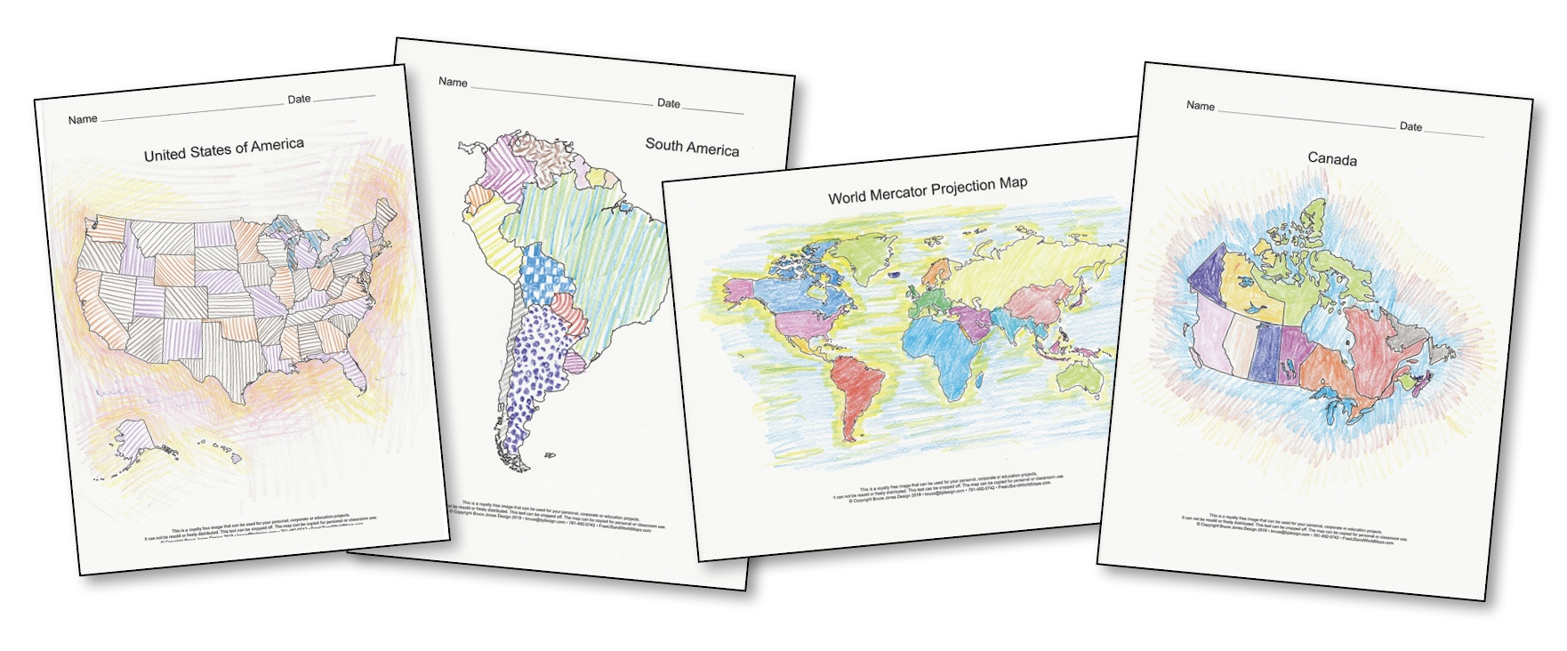 Picture of: World Of Maps Printable Pdf Map Sets Bundle 4 Collections In One