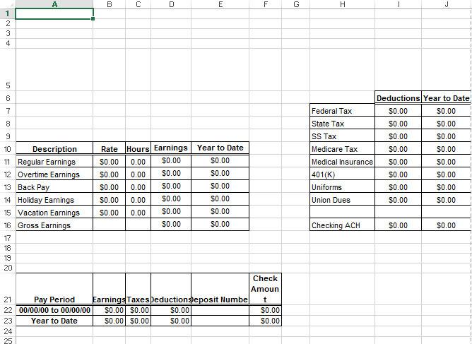 adp pay stub template excelhtml autos weblog