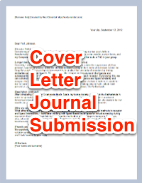 Cover Letter For Scientific Journal Submission