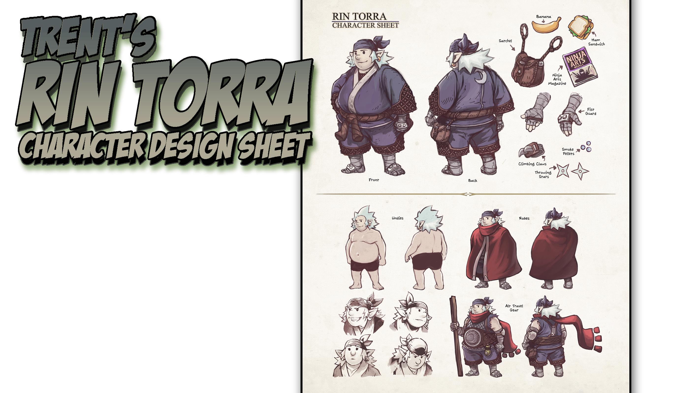 Trent S Rin Torra Character Design Sheet Lesson : Trent s rin torra character design sheet lesson