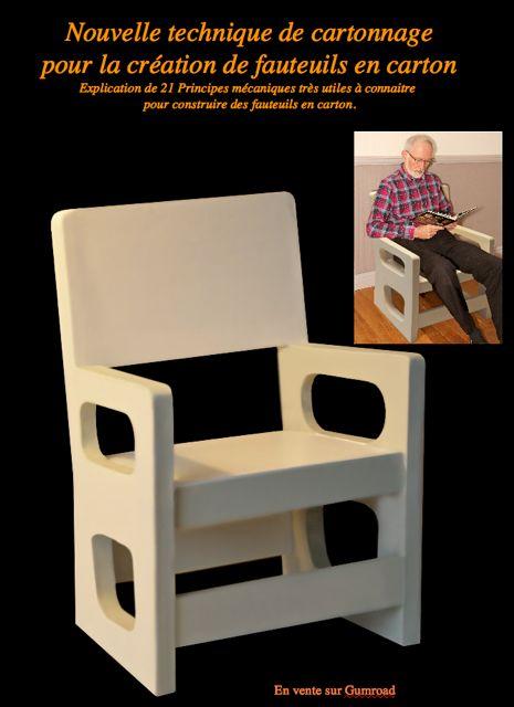 nouvelle technique de cartonnage pour la cr ation de fauteuils en carton. Black Bedroom Furniture Sets. Home Design Ideas